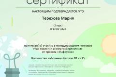 Сертификат проекта infourok.ru №ЮЭ58516308